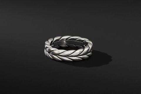 Woven Chevron Band Ring