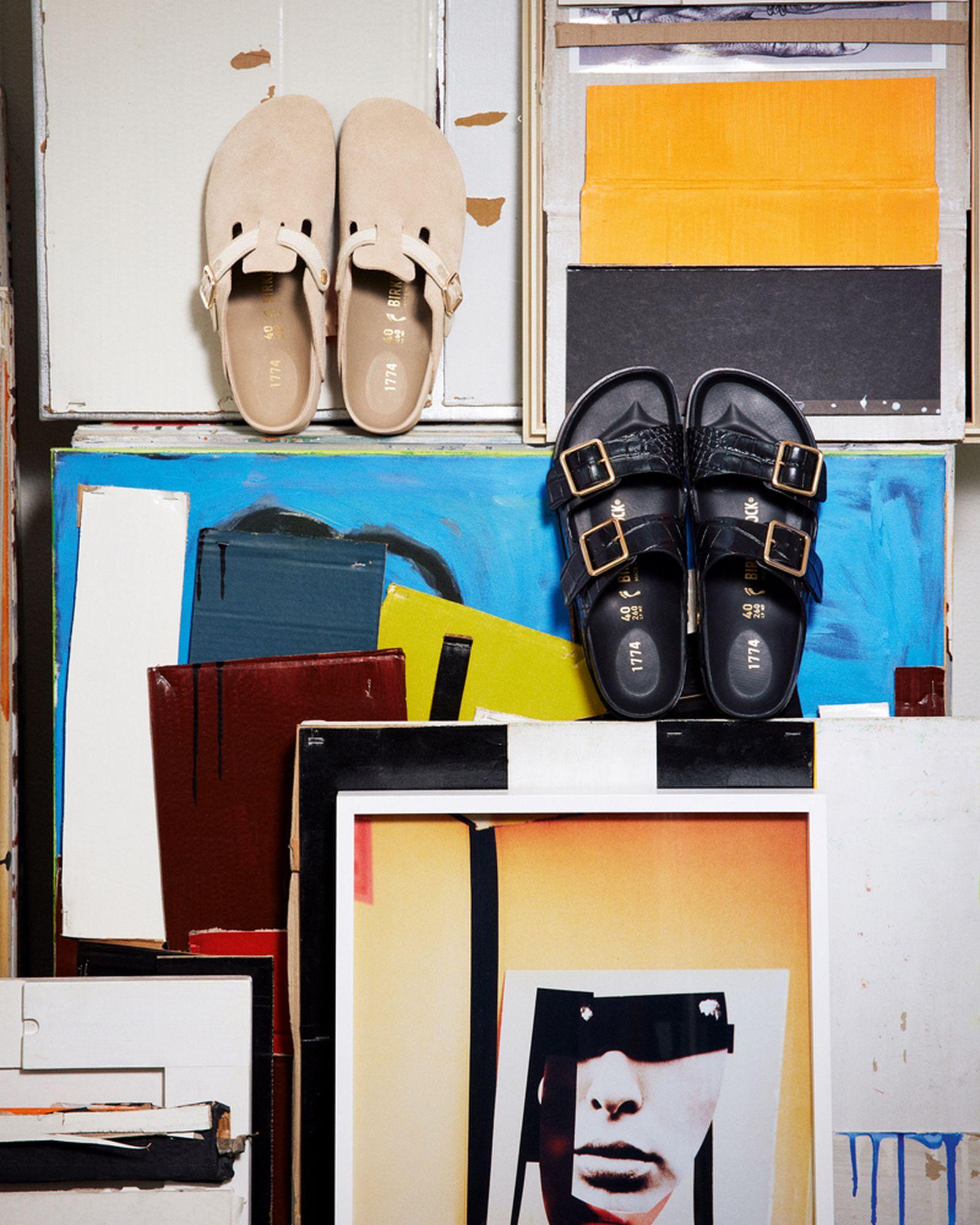 birkenstock 1774 croc arizona pattern print leather boston sandal release date info buy shoe collection fw21 fall winter 2021 drop