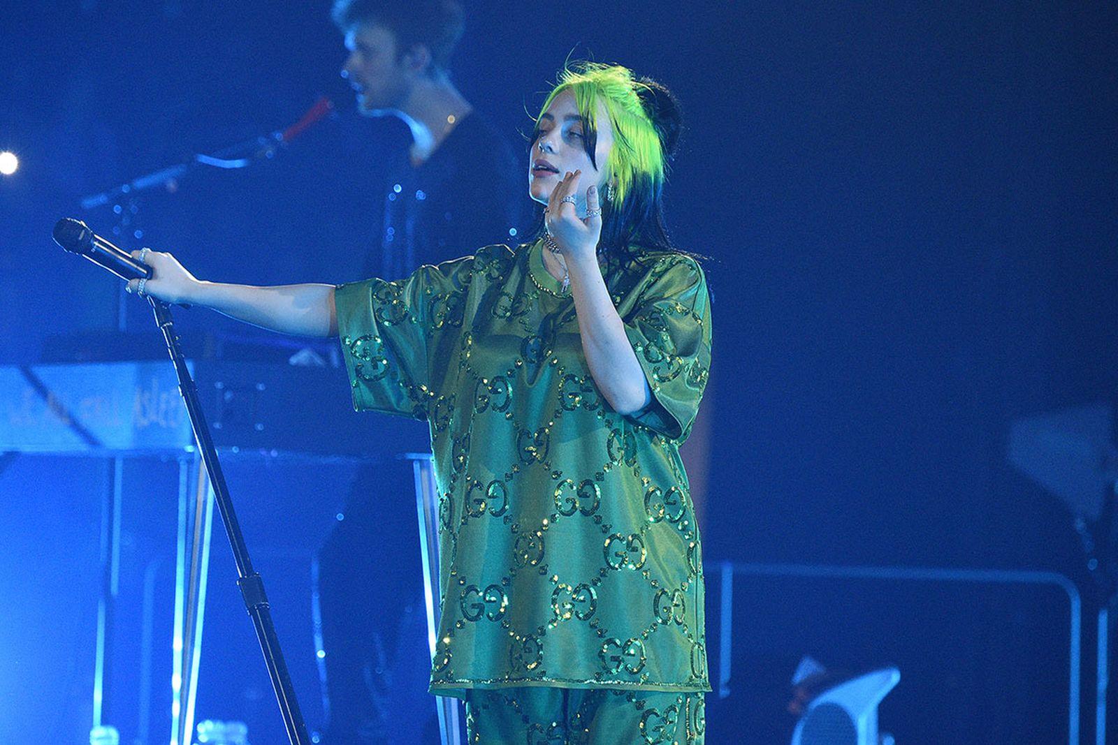 Billie Eilish performs live on stage