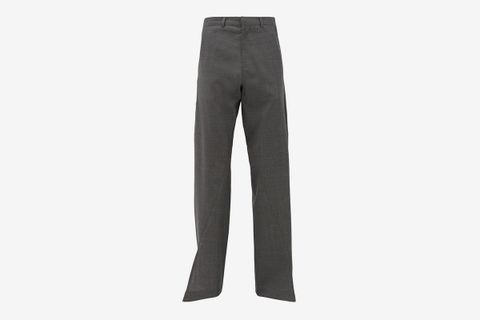 Split-Cuff Belted Trousers