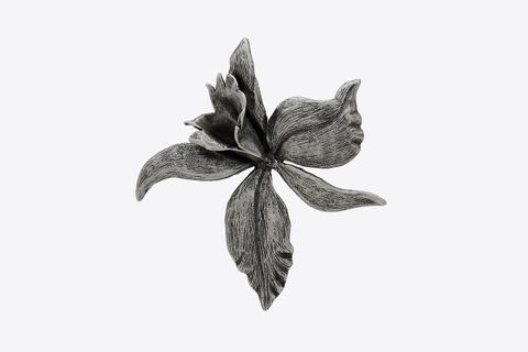 Orchid Broach In Metal