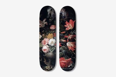 Diptych Flowers 2 Skateboards