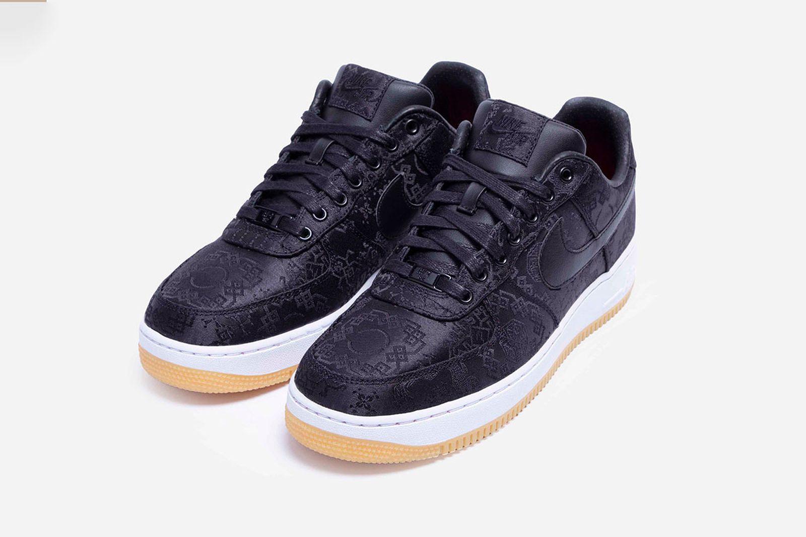 "CLOT x fragment design x Nike Air Force 1 ""Black Silk"""