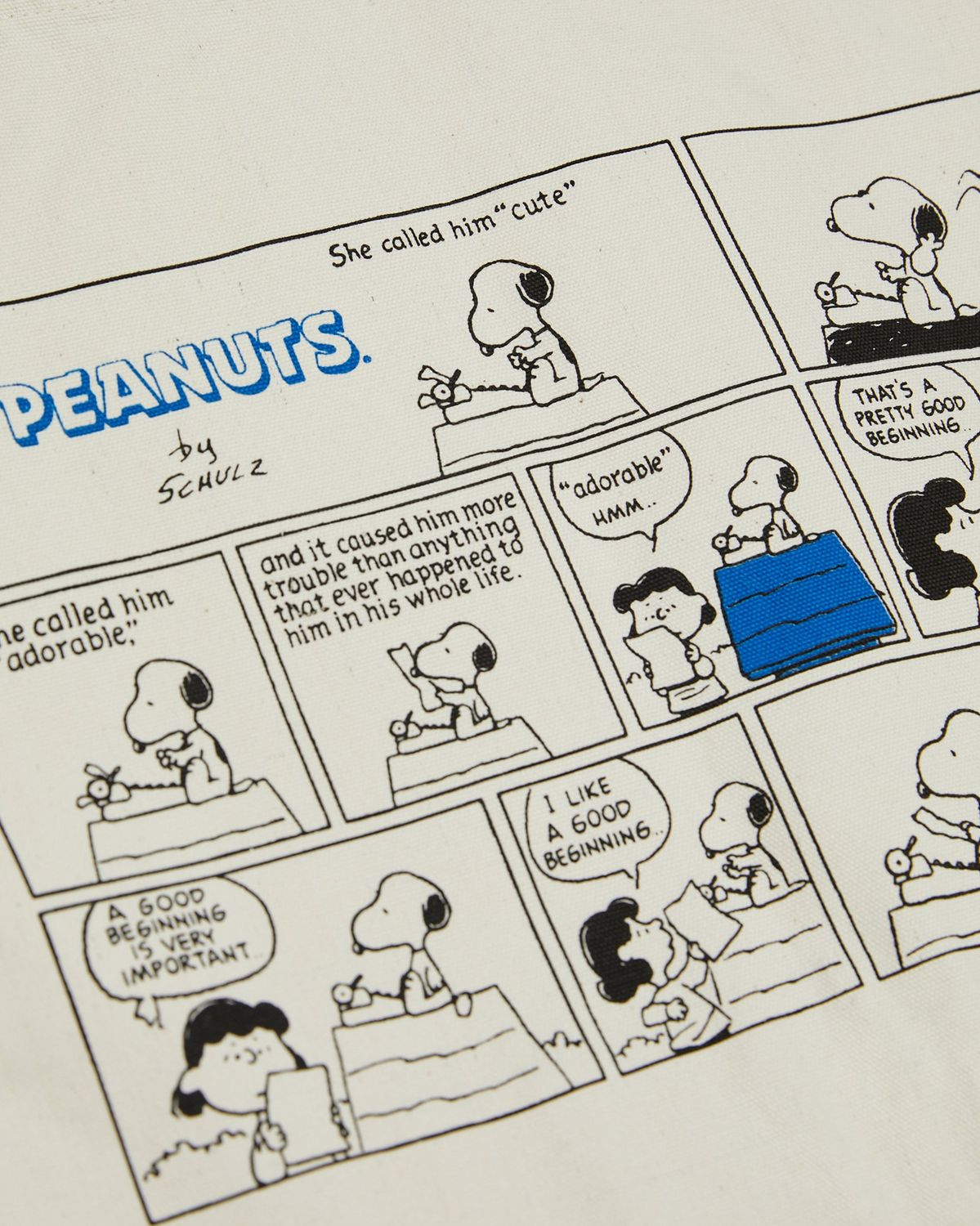 Colette Mon Amour x Soulland -  Snoopy Comics White Totebag - Image 4