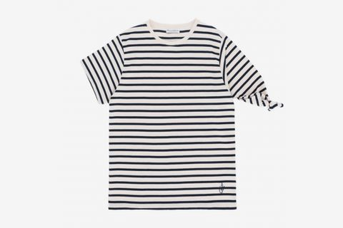 Multi Stripe Single Knot T-Shirt