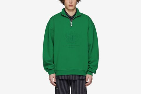Green Half-Zip Sweatshirt