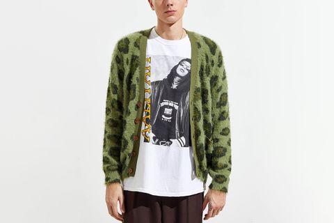 Fuzzy Cheetah Print Cardigan