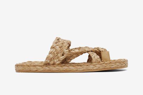 Raffia Multi-Strap Sandals