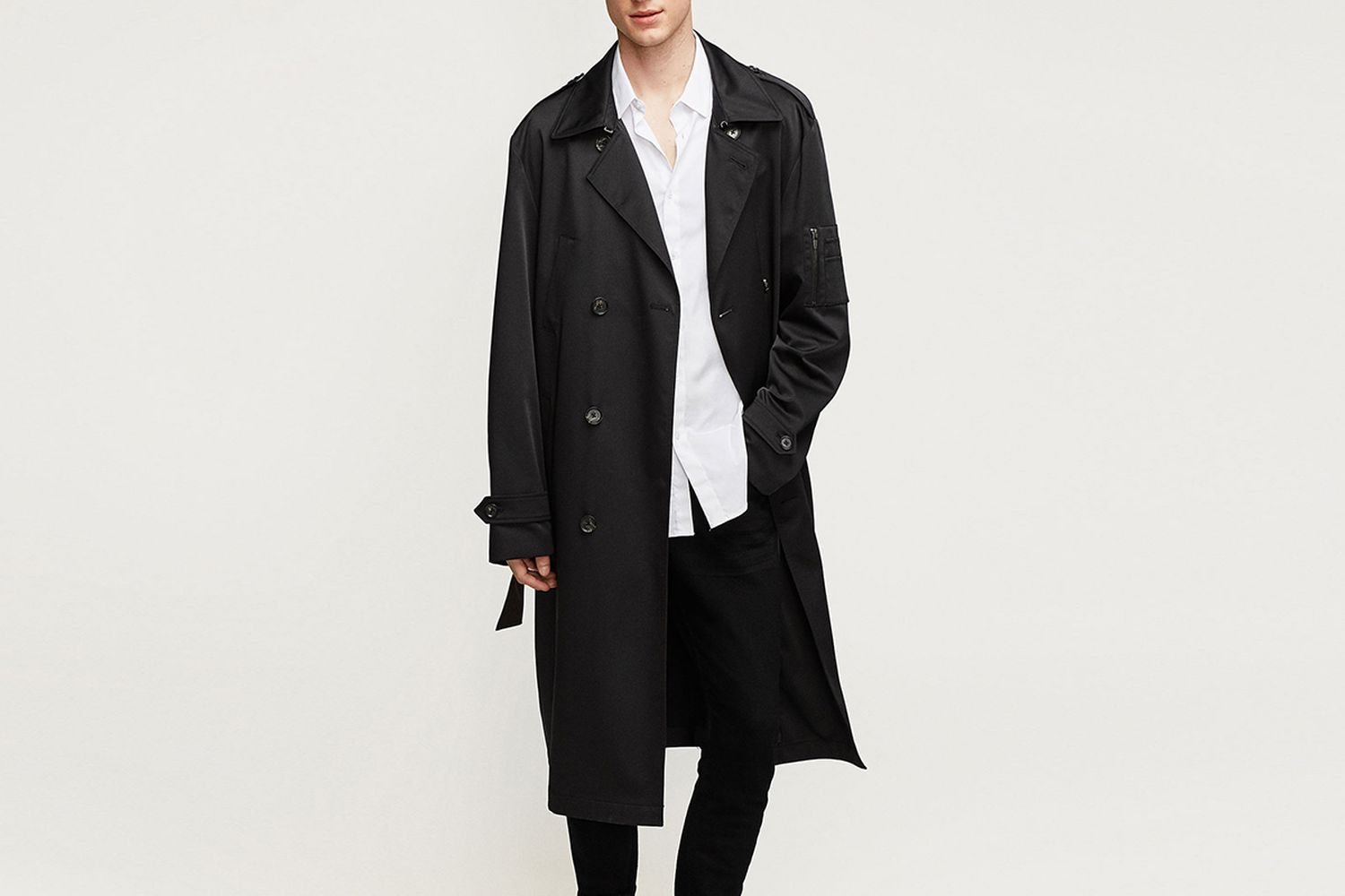 Oversized Technical Trench Coat