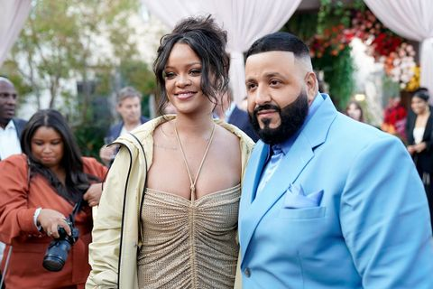 Rihanna and dj Khaled at roc nation's the brunch