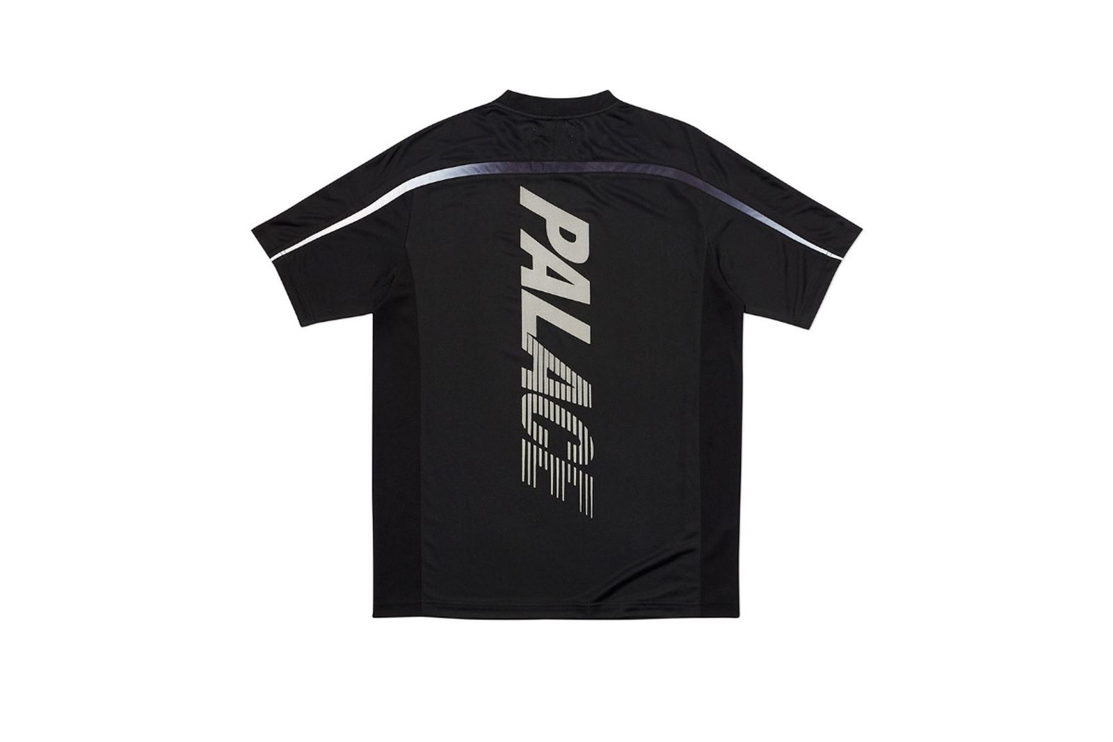 Palace 2019 Autumn T Shirt Stripe Logo black back fw19
