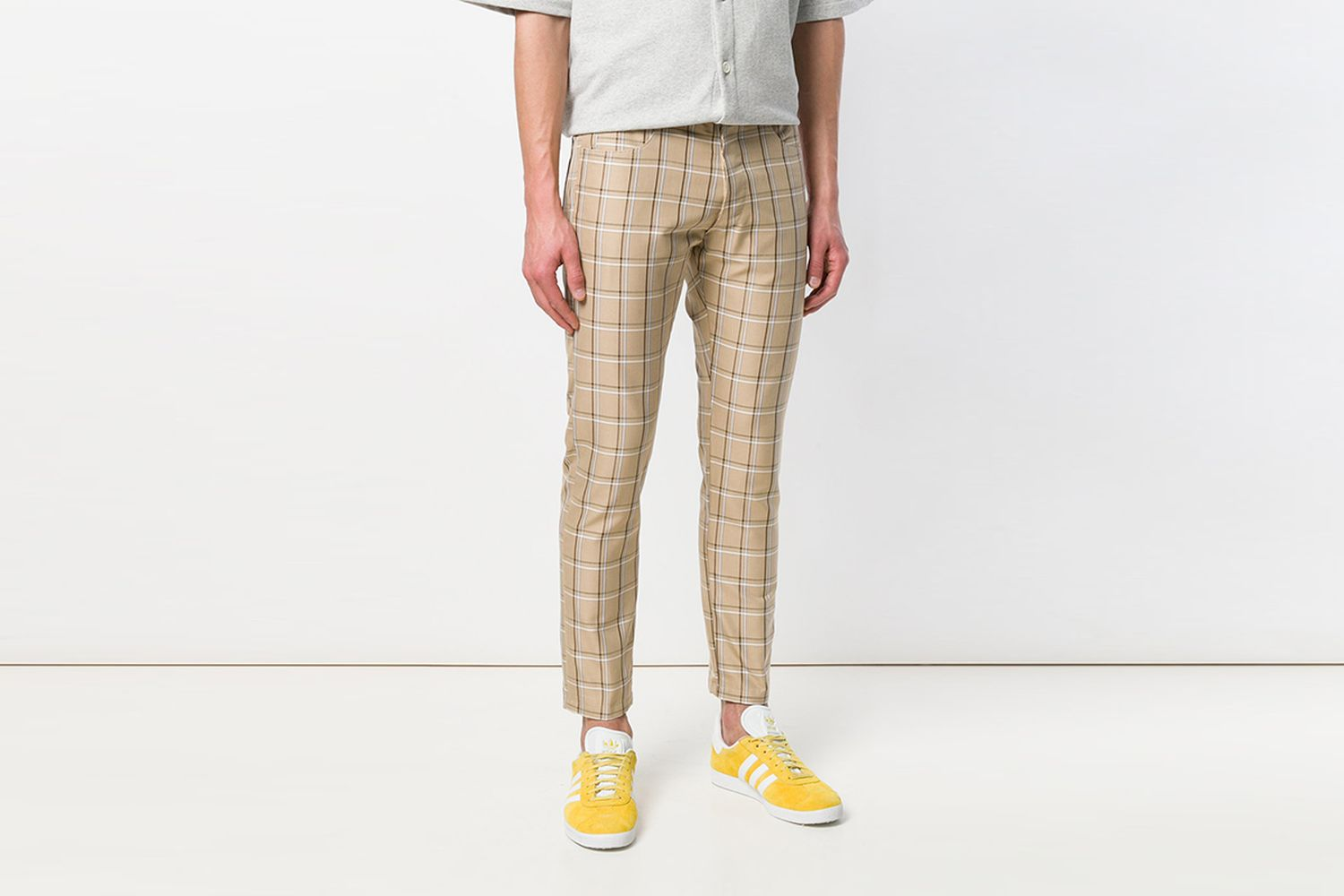 Check Straight Trousers