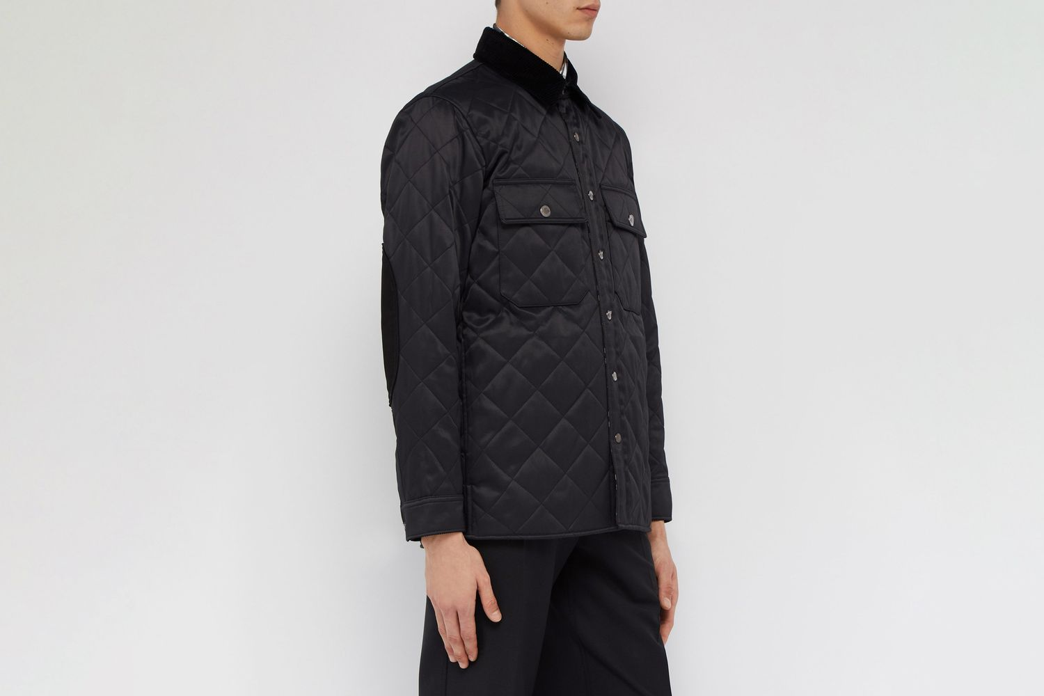 Logo-patch Quilted Twill Jacket
