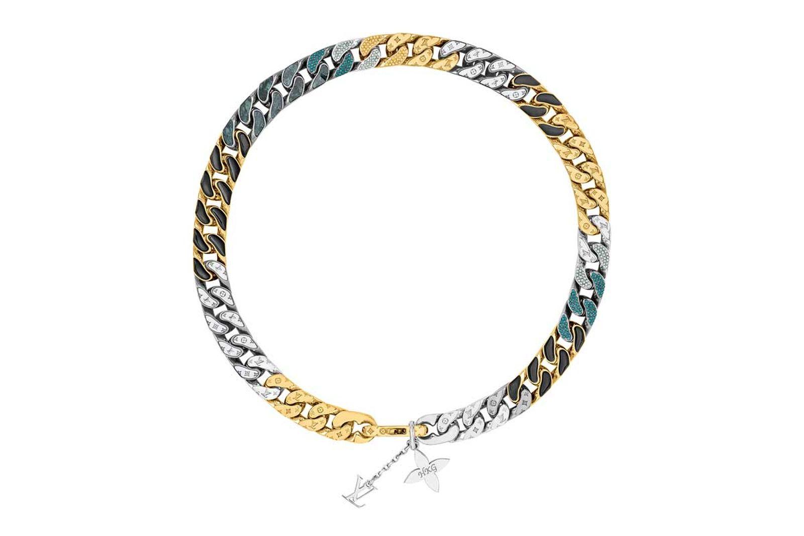 louis vuitton lv chain link neckalces (5)