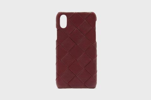 Intrecciato iPhone X leather phone case