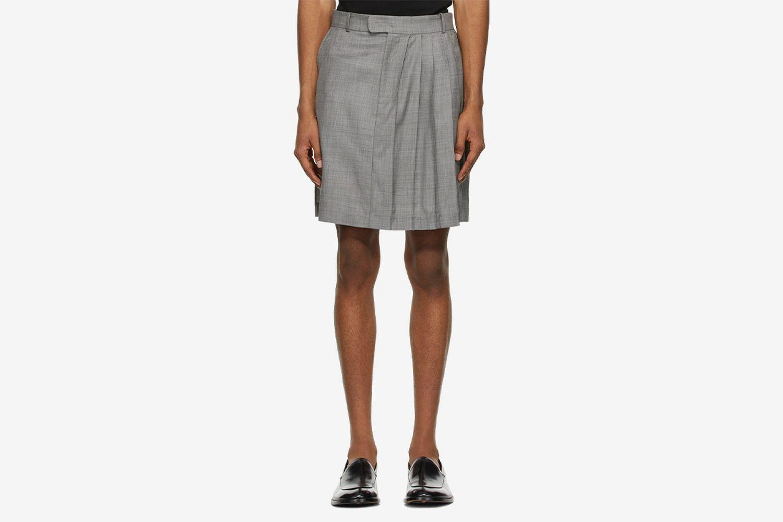 Wool Classic Half Pleated Skirt