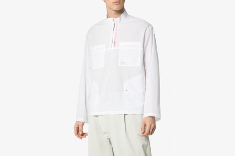 Zip Up Cotton Shirt Jacket