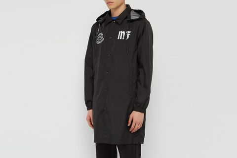 - Logo Print Hooded Jacket - Mens - Black