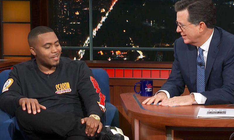 Nas Talks Kanye West & Wyoming on 'The Late Show'