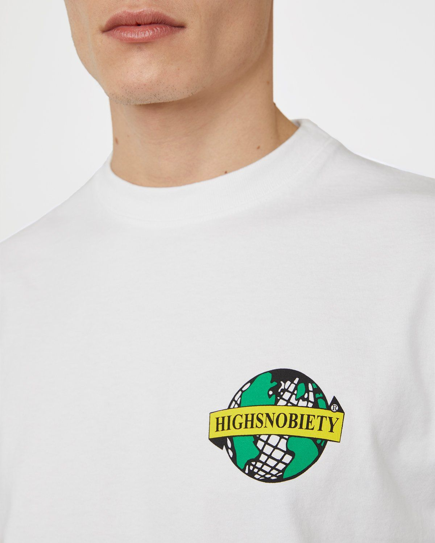 Highsnobiety x L'AS du FALLAFEL — rue des Rosiers T-Shirt White - Image 3