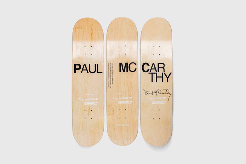 """Paul McCarthy """"Tree"""" Skate Deck Set"""
