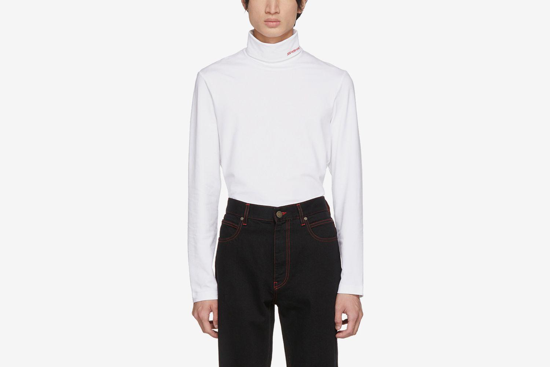 Calvin Klein 205W39NYC White Logo Turteneck