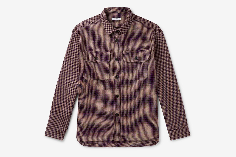 Houndstooth Virgin Wool Overshirt