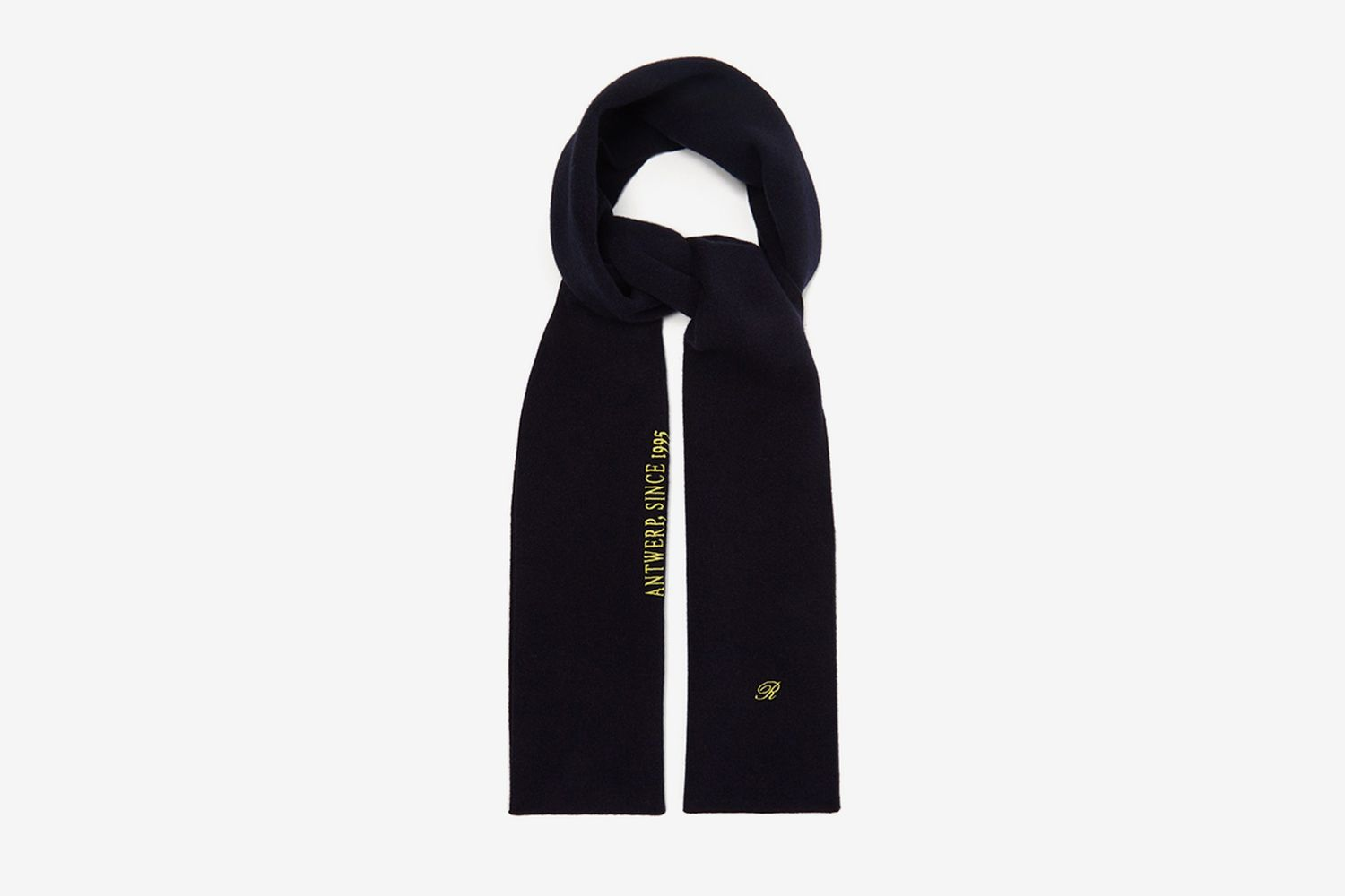 Logo and Text-embroidered Wool-blend Scarf