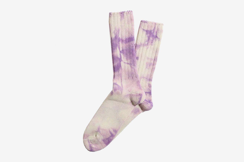 Uneven Dye Crew Socks
