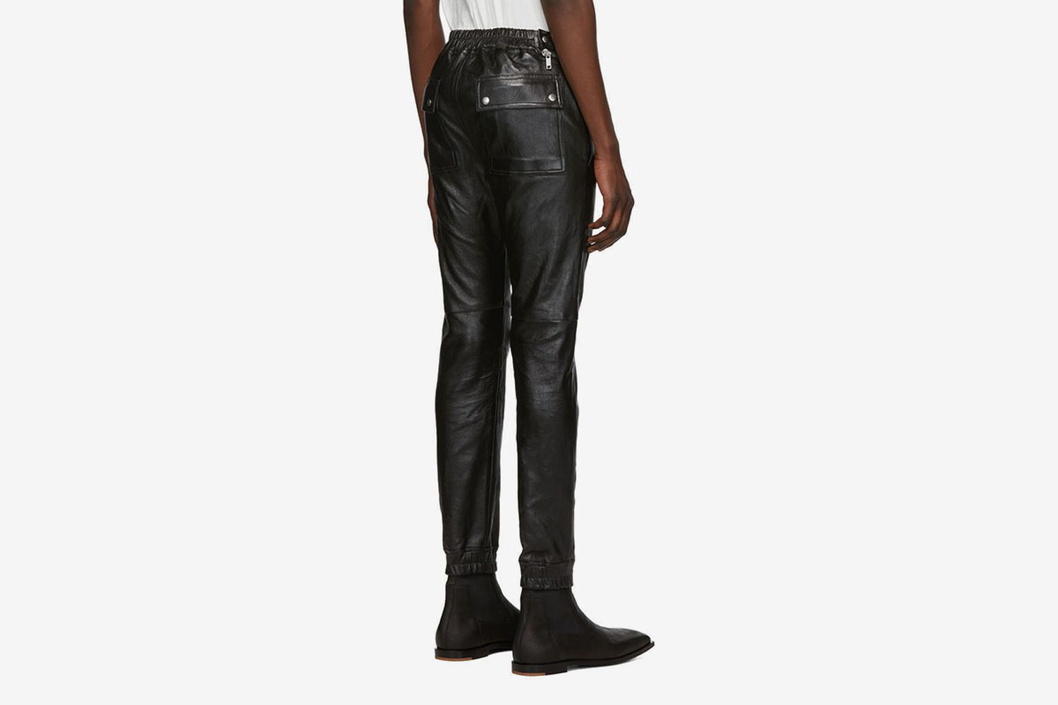 Leather Aircut Trousers