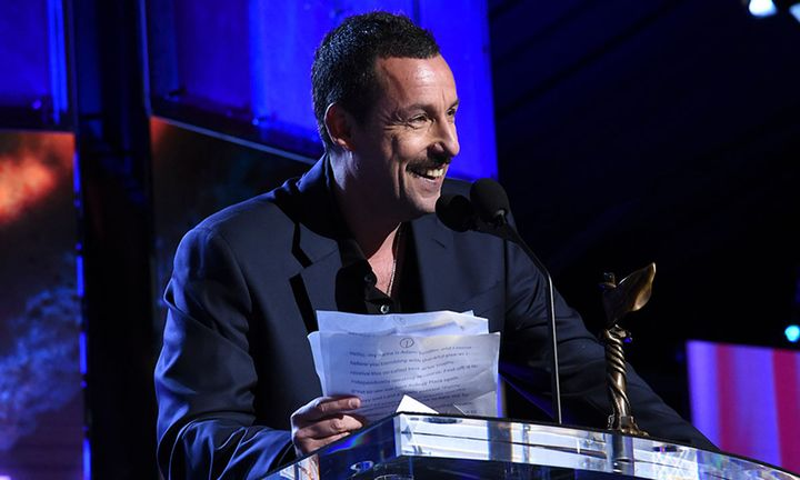 Adam Sandler gives acceptance speech at independent spirit awards