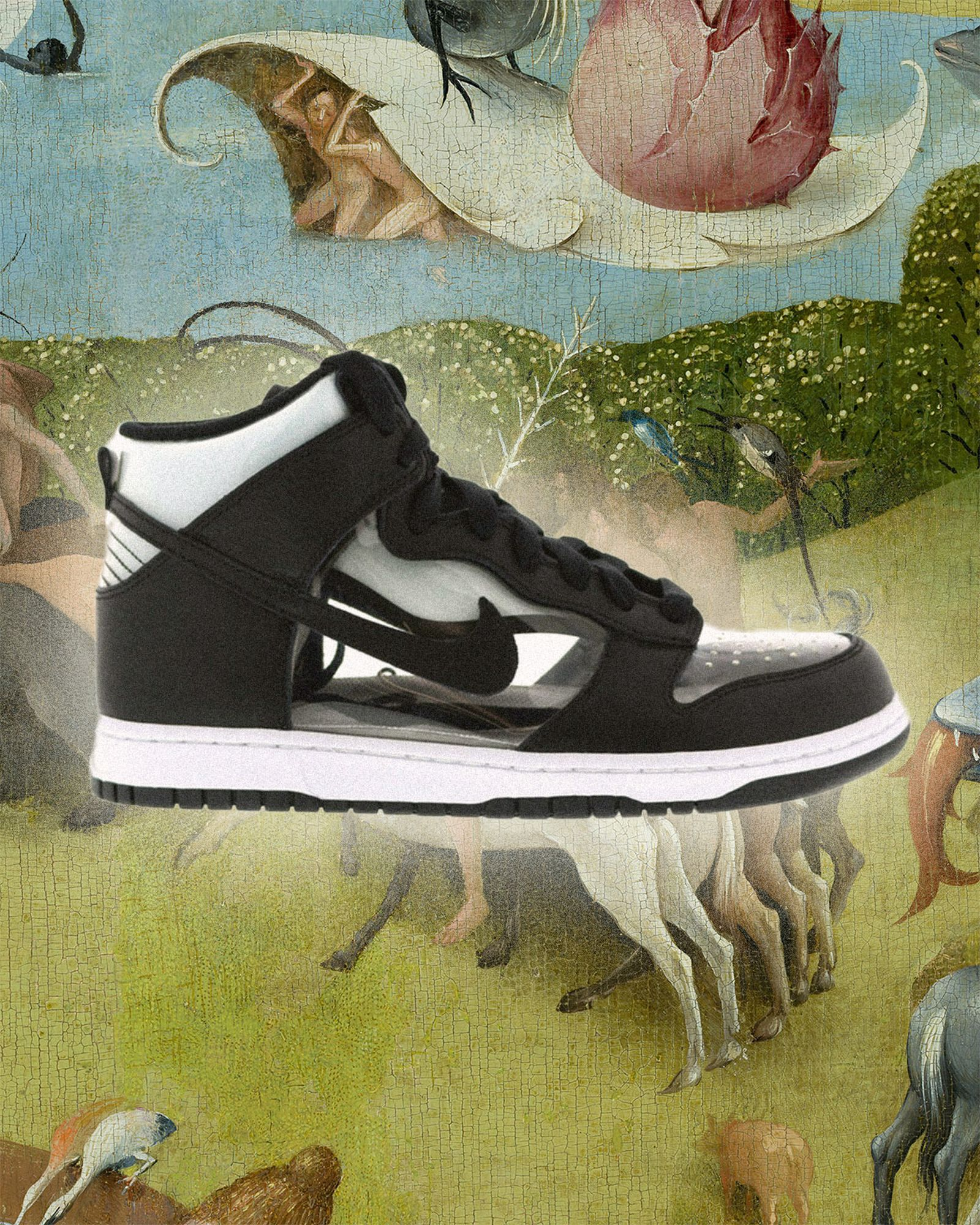 Nike-Dunk-High Comme-Des Garcons-Clear