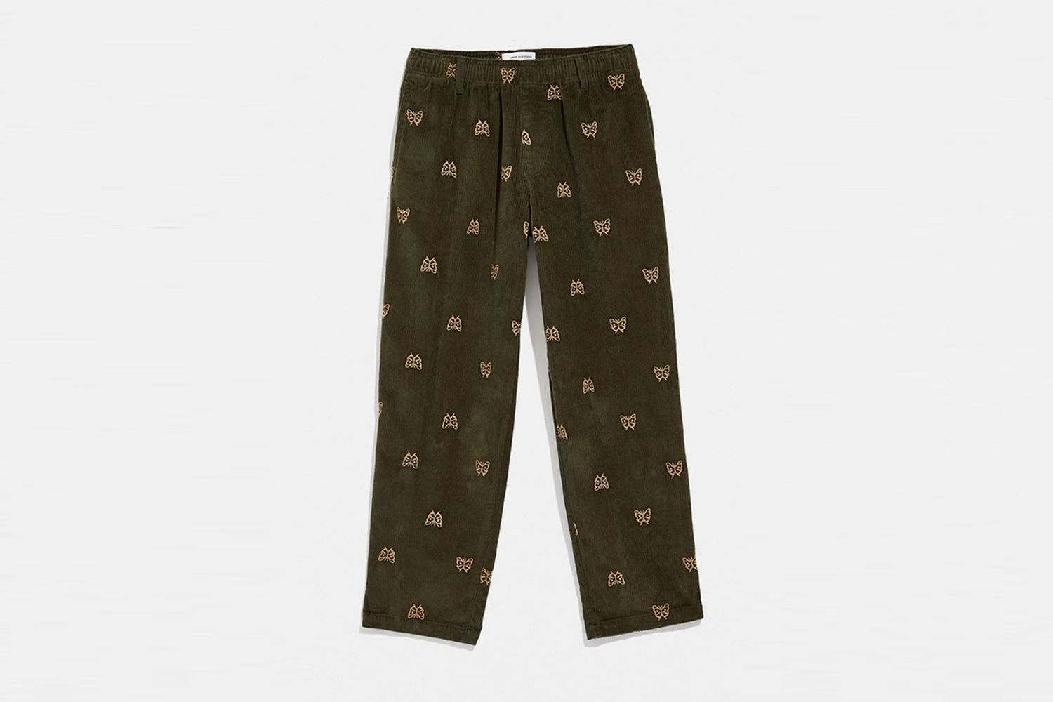 Embroidered Corduroy Beach Pant