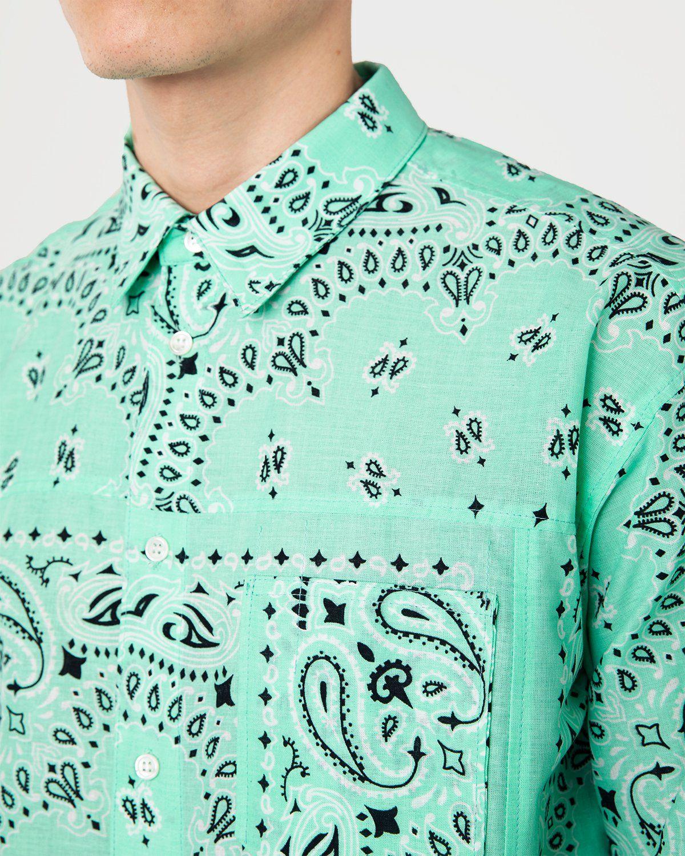 Miyagihidetaka Bandana Shirt Mint - Image 3