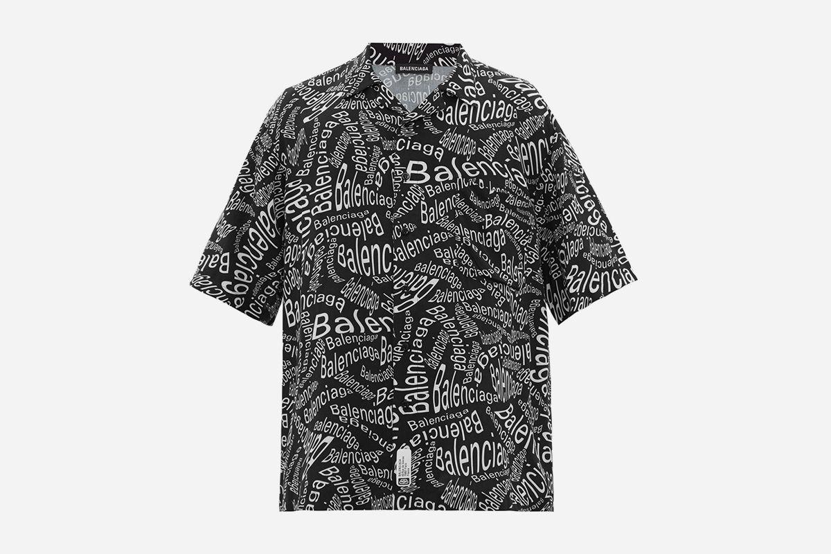 Oversized Logo Print Shirt