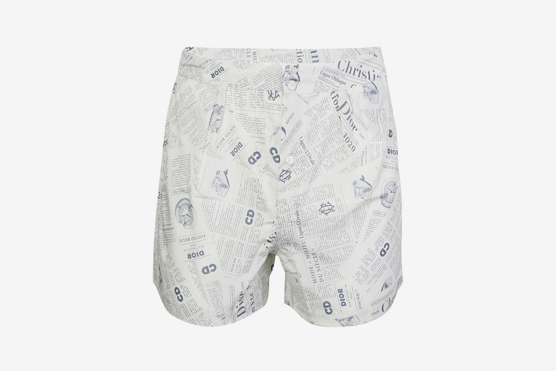 Newspaper Print Underwear Boxer