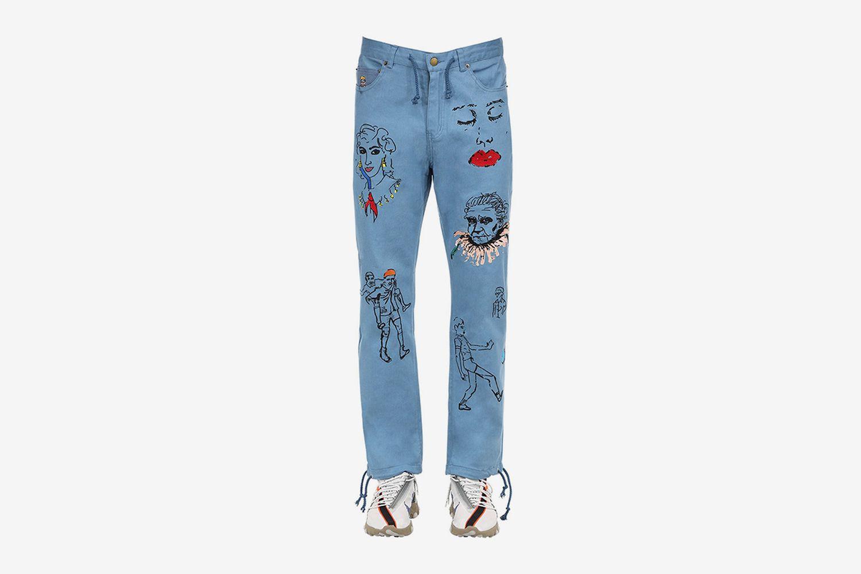 Artwork Cotton Pants