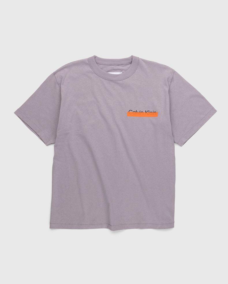 Heron Preston for Calvin Klein - Womens Heavyweight Logo T-Shirt Minimal Grey