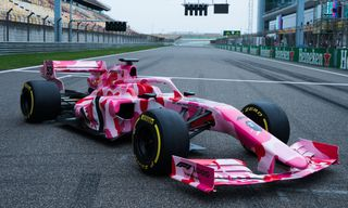 BAPE & Formula 1 Unveil Pink Camo Race Car