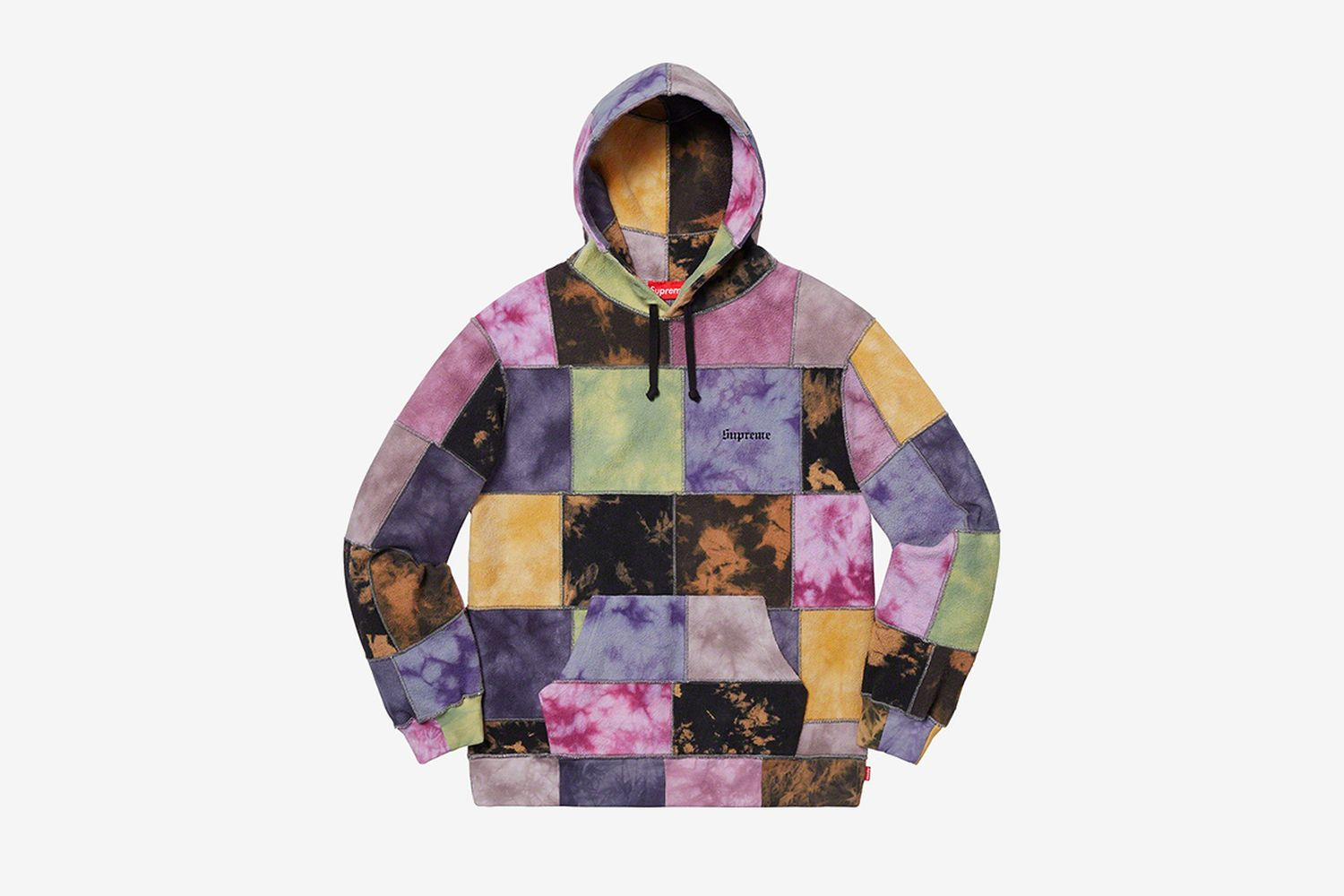 Patchwork Tie Dye Hooded Sweatshirt