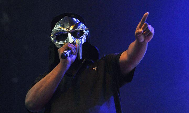 MF Doom performs live on stage
