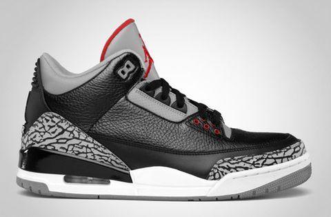 d5307feb51aaf0 Jordan Brand will be releasing the Air Jordan 3 Retro in a Black Varsity Red  – Cement Grey colorway for Holiday 2011.