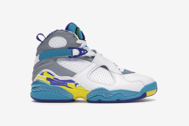 "Wmns Air Jordan 8 Retro ""White Aqua"""