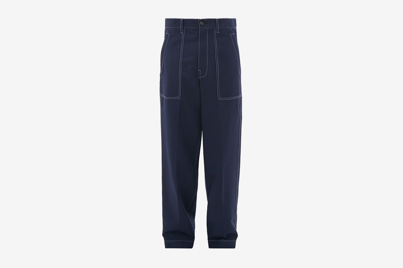 Wool-Gabardine Trousers