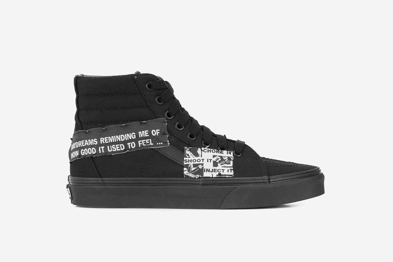 Buy the $590 Enfants Riches Déprimés Vans Sk8-Hi Sneakers Online