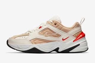 """separation shoes d09fe f86b9 Nike M2K Tekno Surfaces in """"Desert Ore Habanero Red"""" Colorway"""