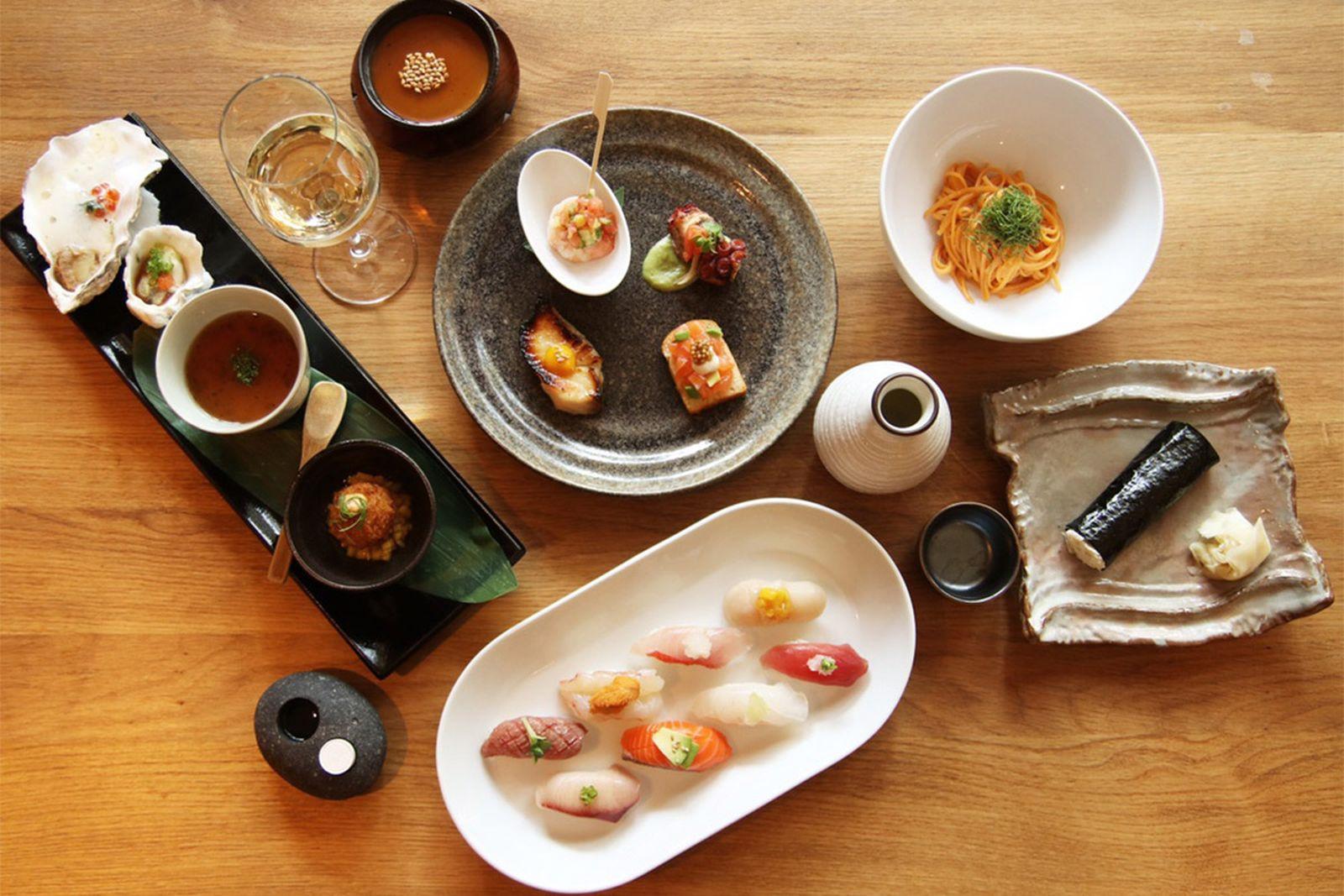 nyc mid range restaurants domo domo AMEX american express platinum food & drink