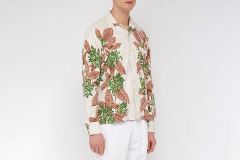 Tropical-print Vintage-cotton Shirt