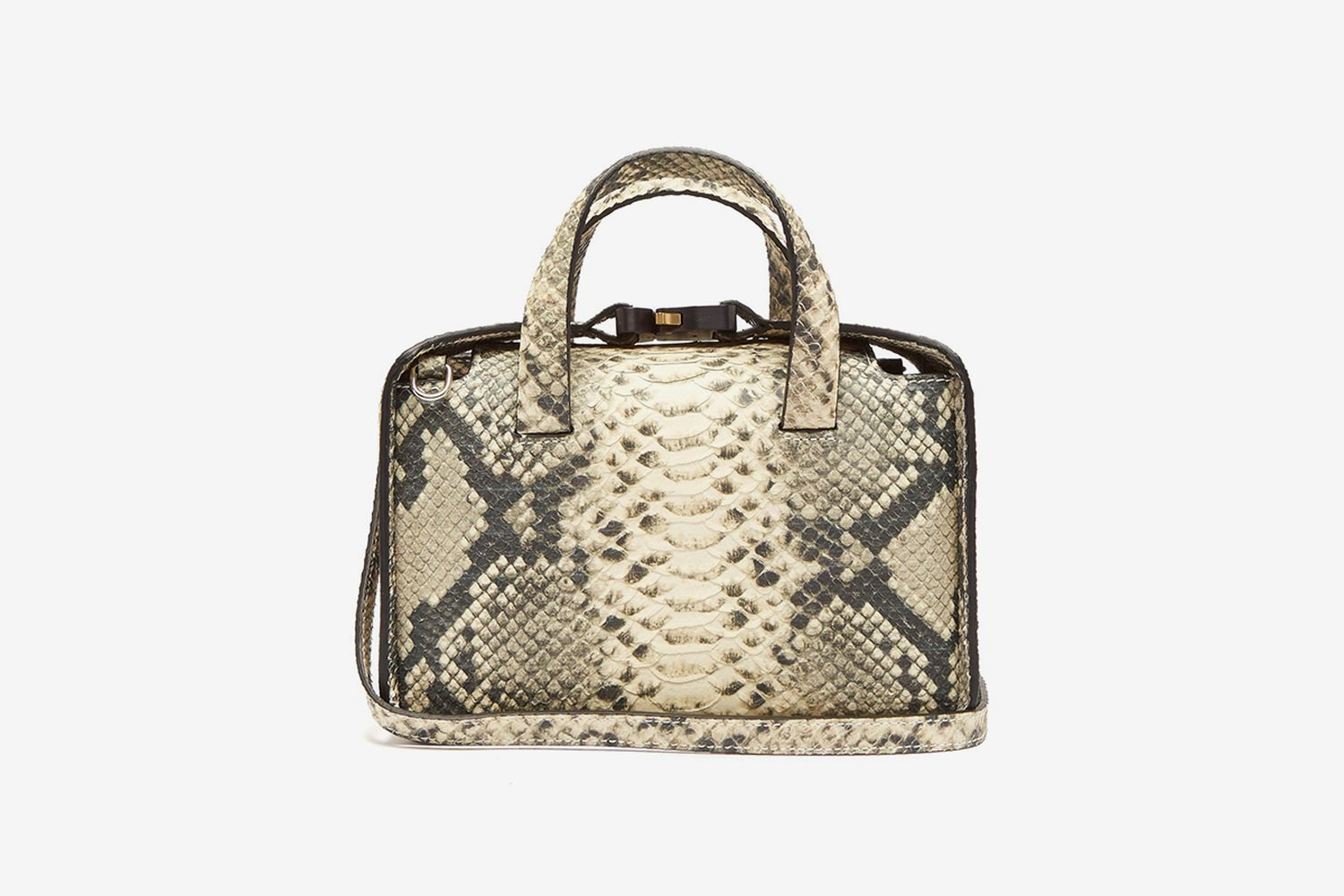 Brie Snakeskin-Effect Cross-Body Bag