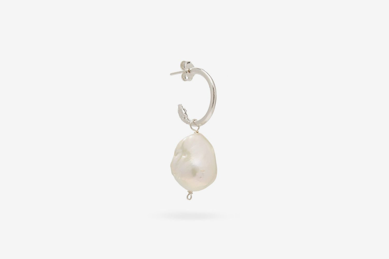 The Snow Lion And The Baroque Pearl Single Earring
